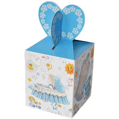 Baby Boy Announcement 12 Chocolates Gift B12CPVG7