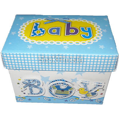 Baby Boy Announcement 7 Chocolates Gift
