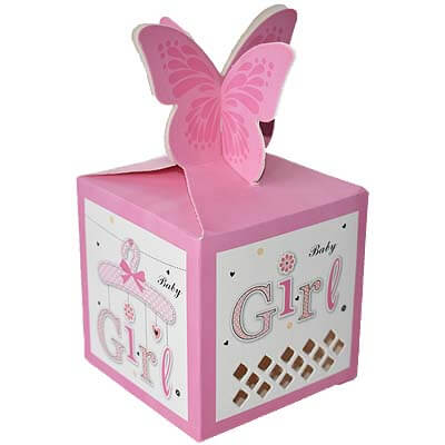 Baby Girl Announcement 12 Chocolates Gift B12CPVG10