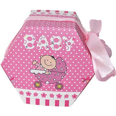 Baby Girl Announcement 12 Chocolates Gift B12CPVG40