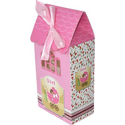 Baby Girl Announcement 8 Chocolates Gift B12CPVG44
