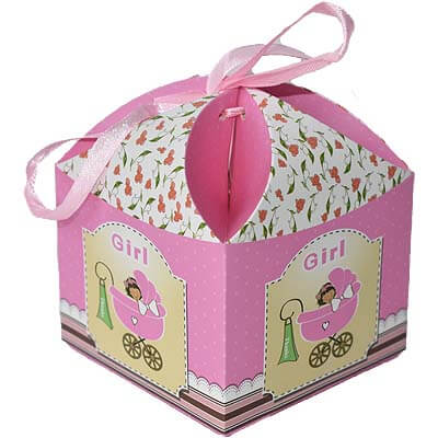Baby Girl Announcement 12 Chocolates Gift B12CPVG50