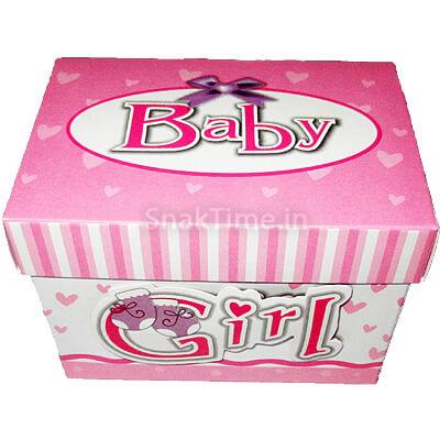 Baby Girl Announcement 7 Chocolates Gift