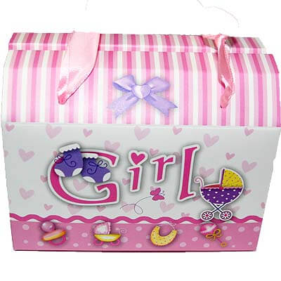 Baby Girl Announcement 12 Chocolates Gift BCPBGA02
