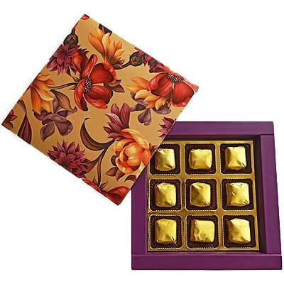 Blasta Designer Floral 9 Chocolate Gift b9ipfcr