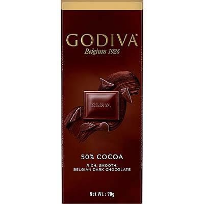Godiva Belgian 50% Dark Chocolate 90g