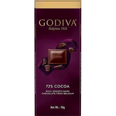 Godiva Belgian 72% Dark Chocolate 90g