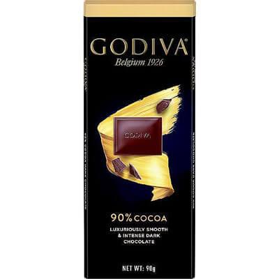 Godiva Belgian 90% Dark Chocolate 90g