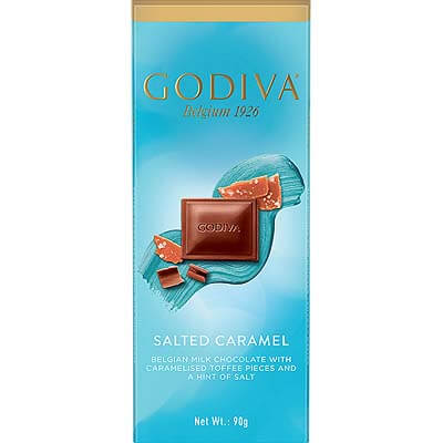 Godiva Belgian Milk Chocolate Salted Caramel 90g