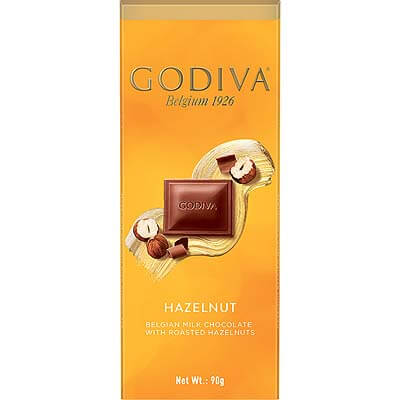 Godiva Belgian Milk Chocolate With Roasted Hazelnuts 90g