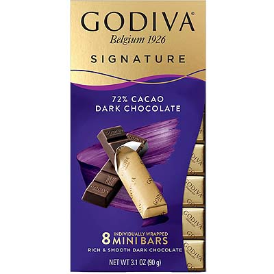 Godiva Belgian Signature 72% Dark Chocolate 90g