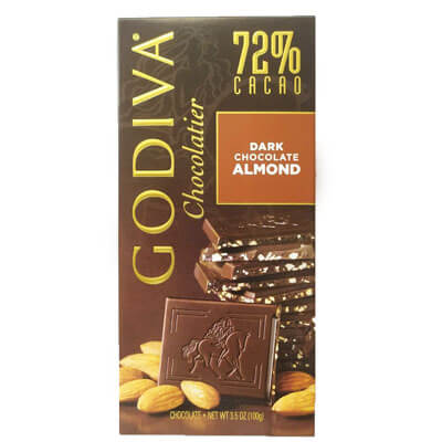 Godiva Chocolatier 72% Dark Chocolate Almond