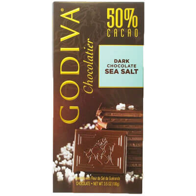 Godiva Chocolatier 50% Dark Chocolate sea salt