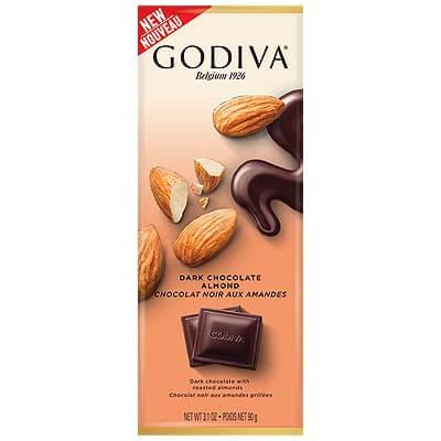 Godiva Dark Chocolate Almond 90g