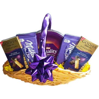 Godiva Milka Nestle Chocolate Gift Basket