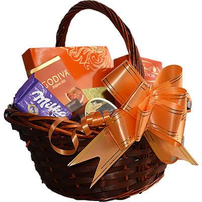 Lindor Milka Godiva Chocolate Gift Basket
