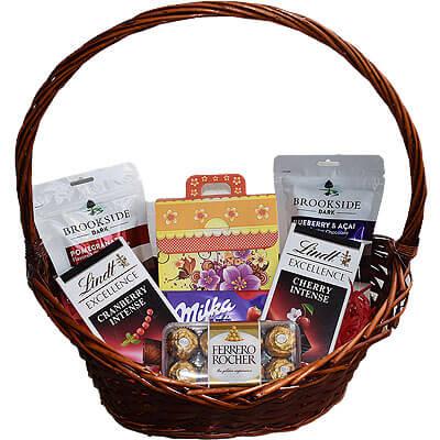 Lindt Ferrero Milka Cookie Chocolate Gift Basket