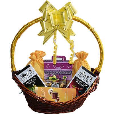 Lindt Godiva Ferrero Cookies Dryfruit Gift Basket