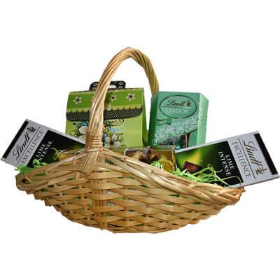 Lindt Lime Lindor Mint Ferrero Gift Basket