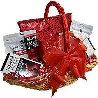 Lindt Lindor Godiva Brookside Hello Gift Basket