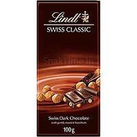 Lindt Swiss Classic Dark Chocolate Roasted Hazelnuts 100g