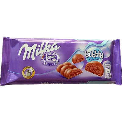 Milka Bubbly Alpine Milk Chocolate 100g