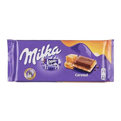 Milka Caramel Alpine Milk Chocolate 100g