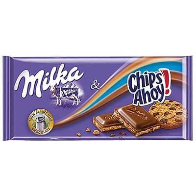 Milka Chips Ahoy Alpine Milk Chocolate 100g