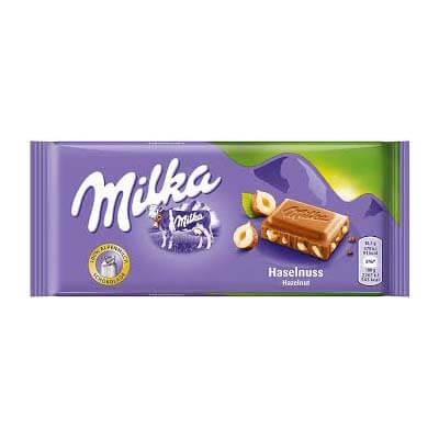 Milka Hazelnut Alpine Milk Chocolate 100g