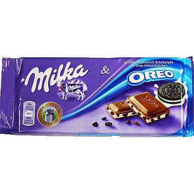Milka Oreo Milk Chocolate 100g