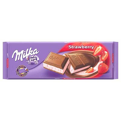 Milka Strawberry Alpine Milk Chocolate 100g