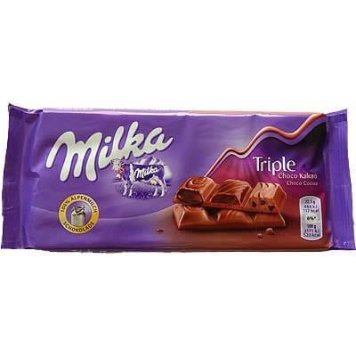 Milka Triple Chocolate 100g