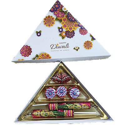 Triangle Diwali Cracker Chocolate Gift