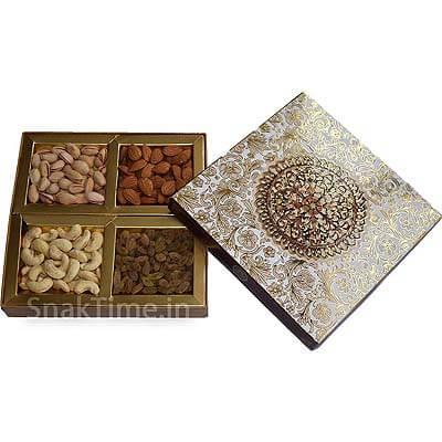 Brown Art Corporate Diwali Dry Fruit Gift STN988X8