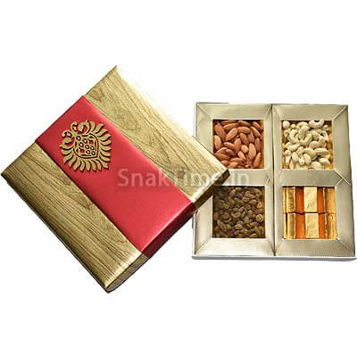 Brown with Red Belt Dry Fruit Chocolate Combo Gift ST1219X9C