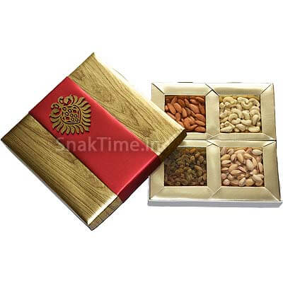 Brown with Red Belt Dry Fruit Gift ST12110X10
