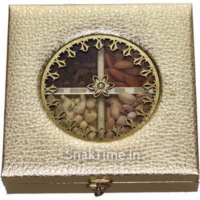 Golden Circle Window Diwali Dry Fruit Gift ST5008X8