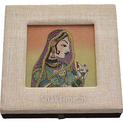 Indian Woman Designer Dry Fruit Gift STDFB166