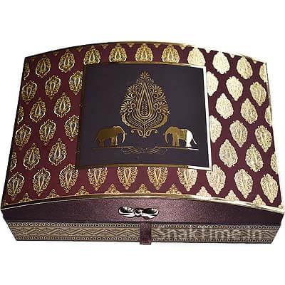 Luxury Wooden Diwali Corporate Dry Fruit Gift STDFLB203