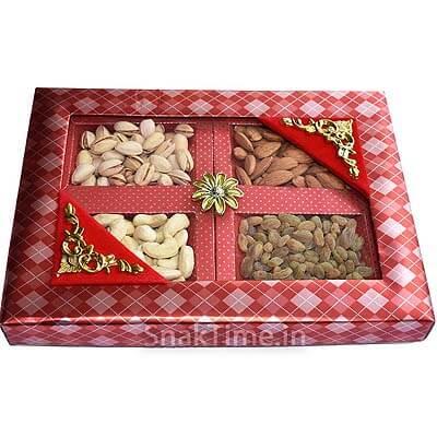Orange Window Diwali Dry Fruit Gift ST1568X11
