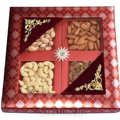 Orange Window Diwali Dry Fruit Gift ST1569X9