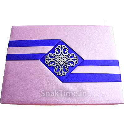 Pink N Blue Ribbon Dry Fruit Gift ST1198X11