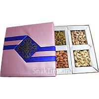 Pink N Blue Ribbon Dry Fruit Gift ST1199X9