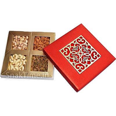 Red Art Diwali Dry Fruit Gift ST1789X9