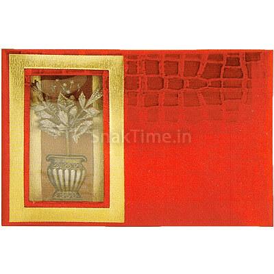 Red Flower Pot Dry Fruit Gift