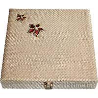 Red Flower Wooden Diwali Dry Fruit Gift STDFB22012X12