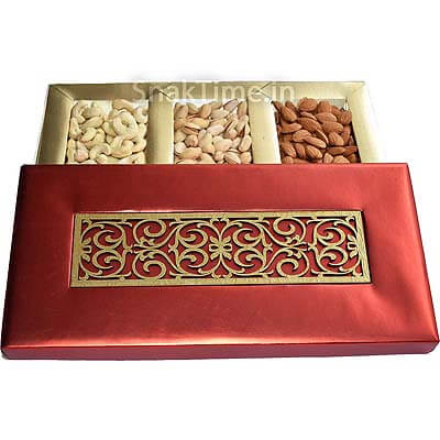 Red Tie Corporate Diwali Dry Fruit Gift ST11514X7