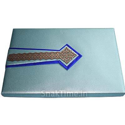 Teal Blue Arrow Diwali Dry Fruit Gift ST11812X18
