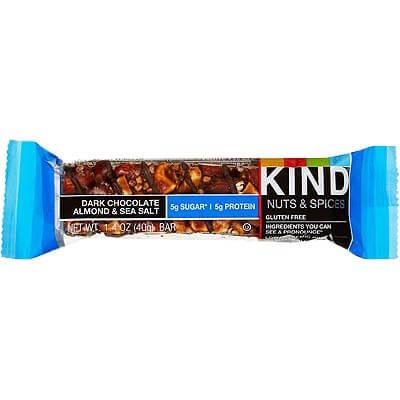 Kind Nuts Bar Dark Chocolate Almond Sea Salt 40g