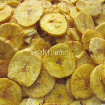Yellow Banana Chips Round